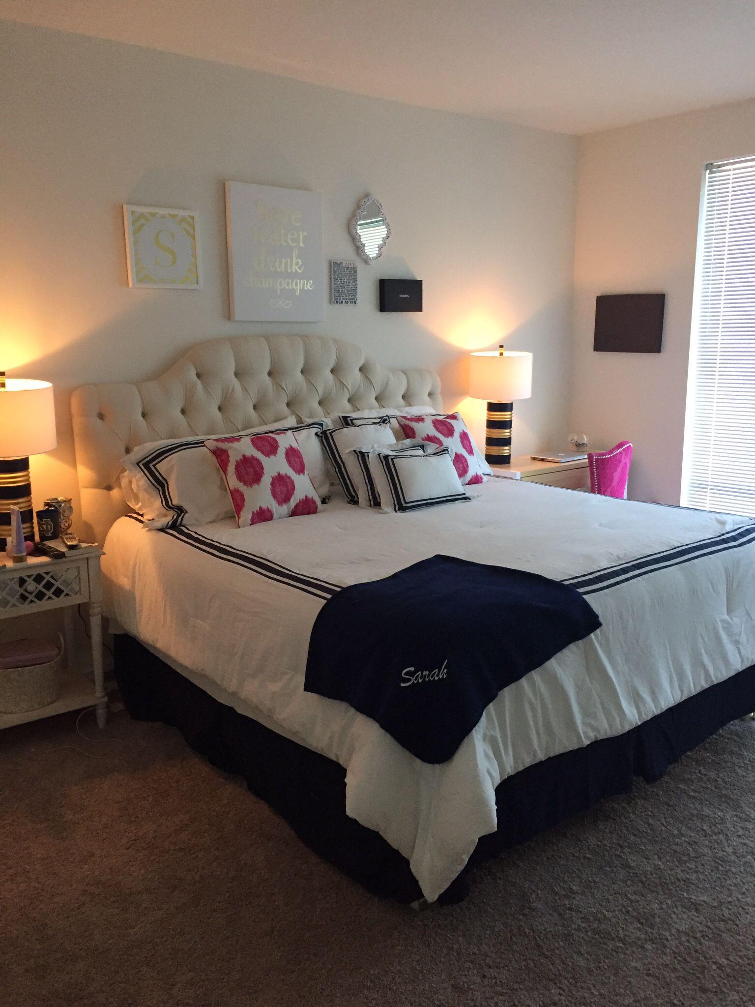 small apartment bedroom idea Twenty somethings first apartment bedroom. | MARGI VORDER