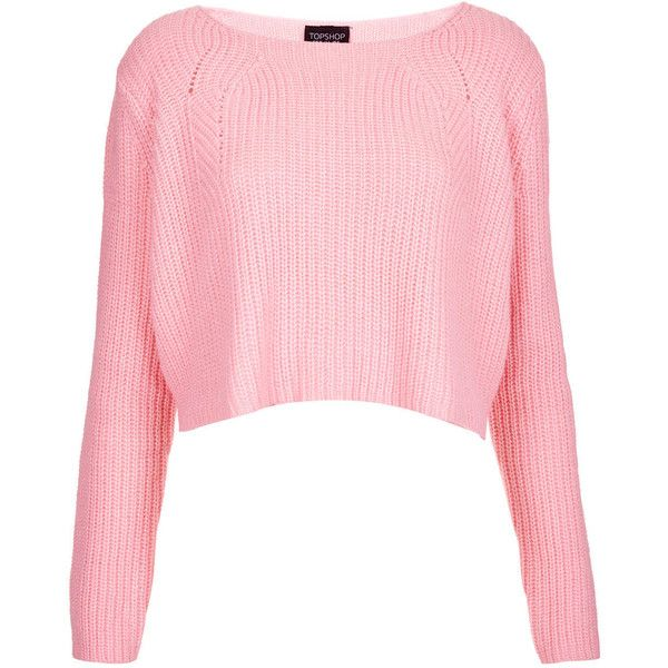 d40124be67d3f TOPSHOP Knitted Ribbed Crop Jumper ( 31) ❤ liked on Polyvore featuring tops