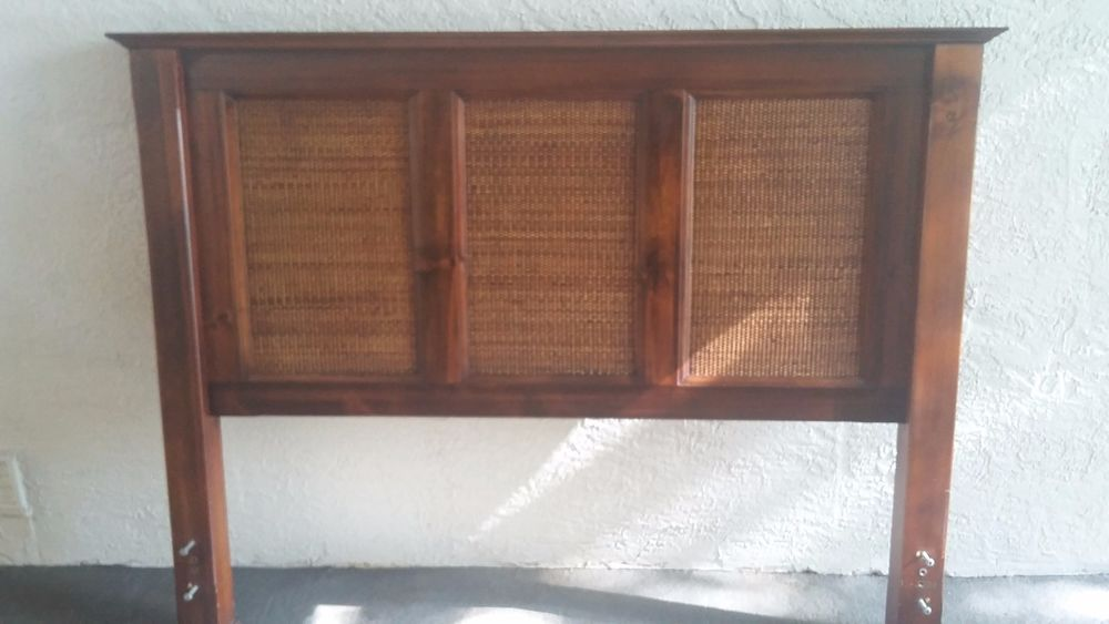 Pier I Queen Headboard Rattan And Solid Wood Pier1 Country
