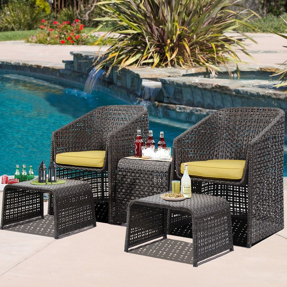 sitzgruppe polyrattan gartenm bel sofa sessel garten garnitur lounge set in garten terrasse. Black Bedroom Furniture Sets. Home Design Ideas