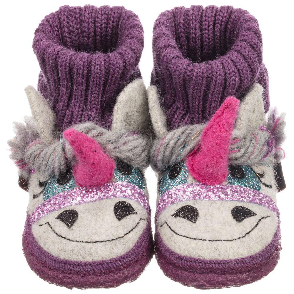 8afeeabe0f4 Giesswein - Girls Unicorn Wool Slippers
