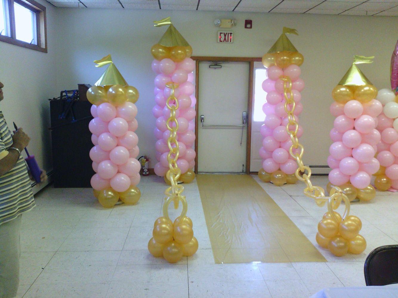 Princess Balloon Decoration Princessthemeballoindecor Princess Theme Balloons Decorations