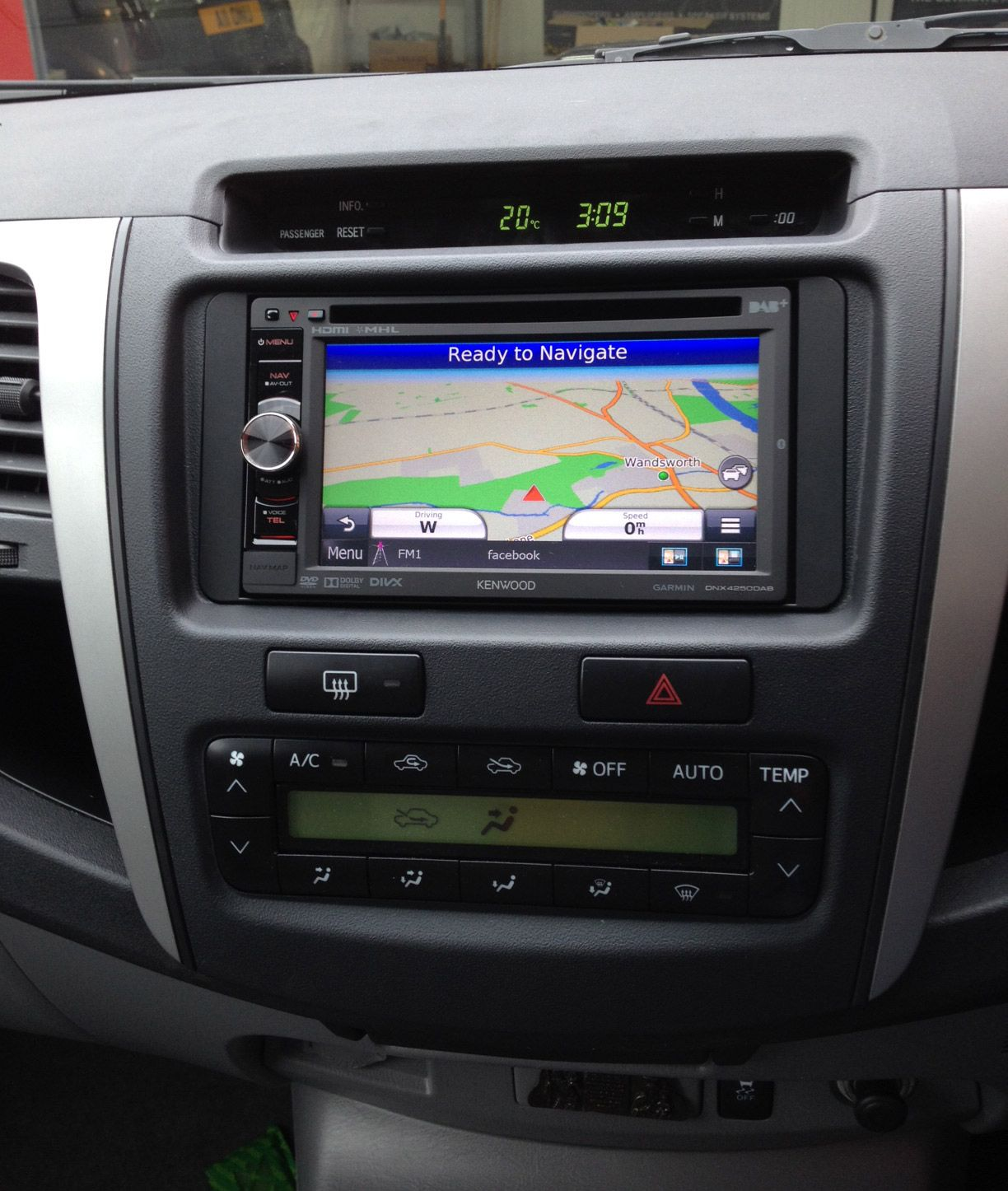 kenwood dnx 4250dab double din install in toyota hilux 61. Black Bedroom Furniture Sets. Home Design Ideas