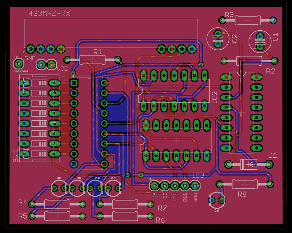 Making A 4 Channel Rf Remote Pcb Design Included Gadgetronicx Pcb Design Remote Remote Control