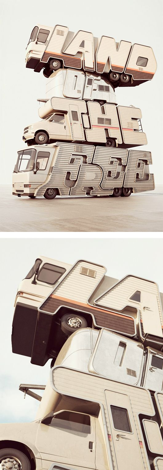 3D Typography by Chris Labrooy #3dtypography