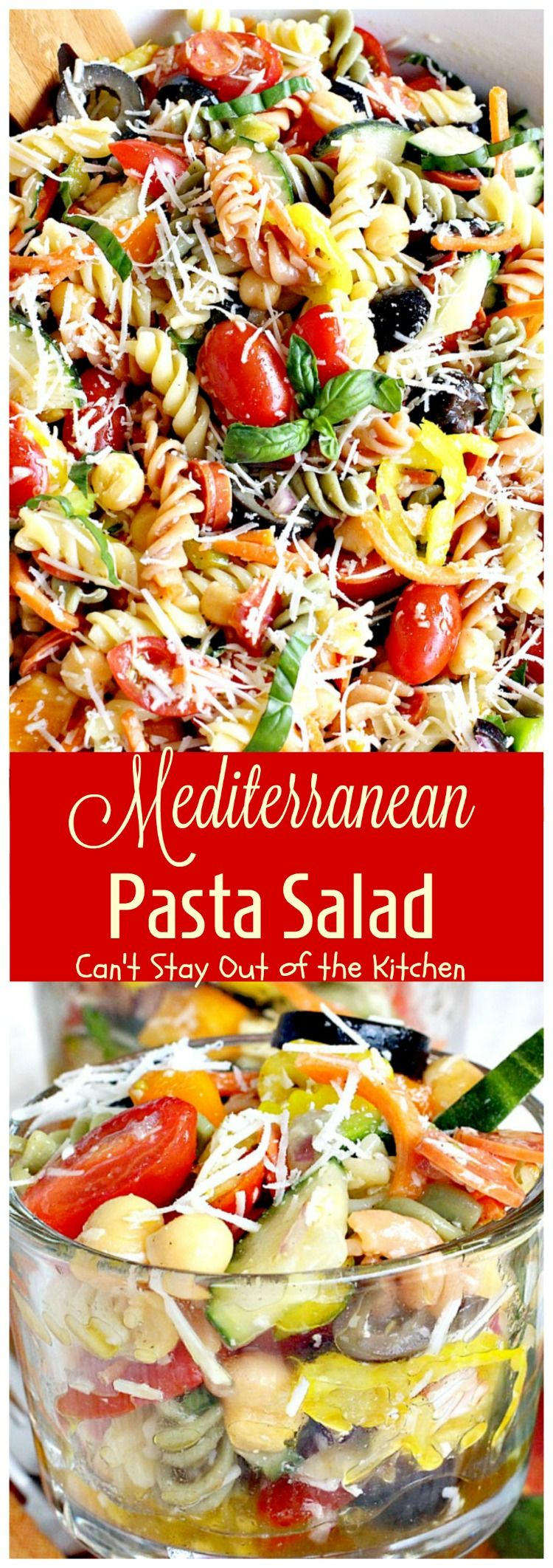 Mediterranean Pasta Salad | Can't Stay Out of the Kitchen | this fabulous…