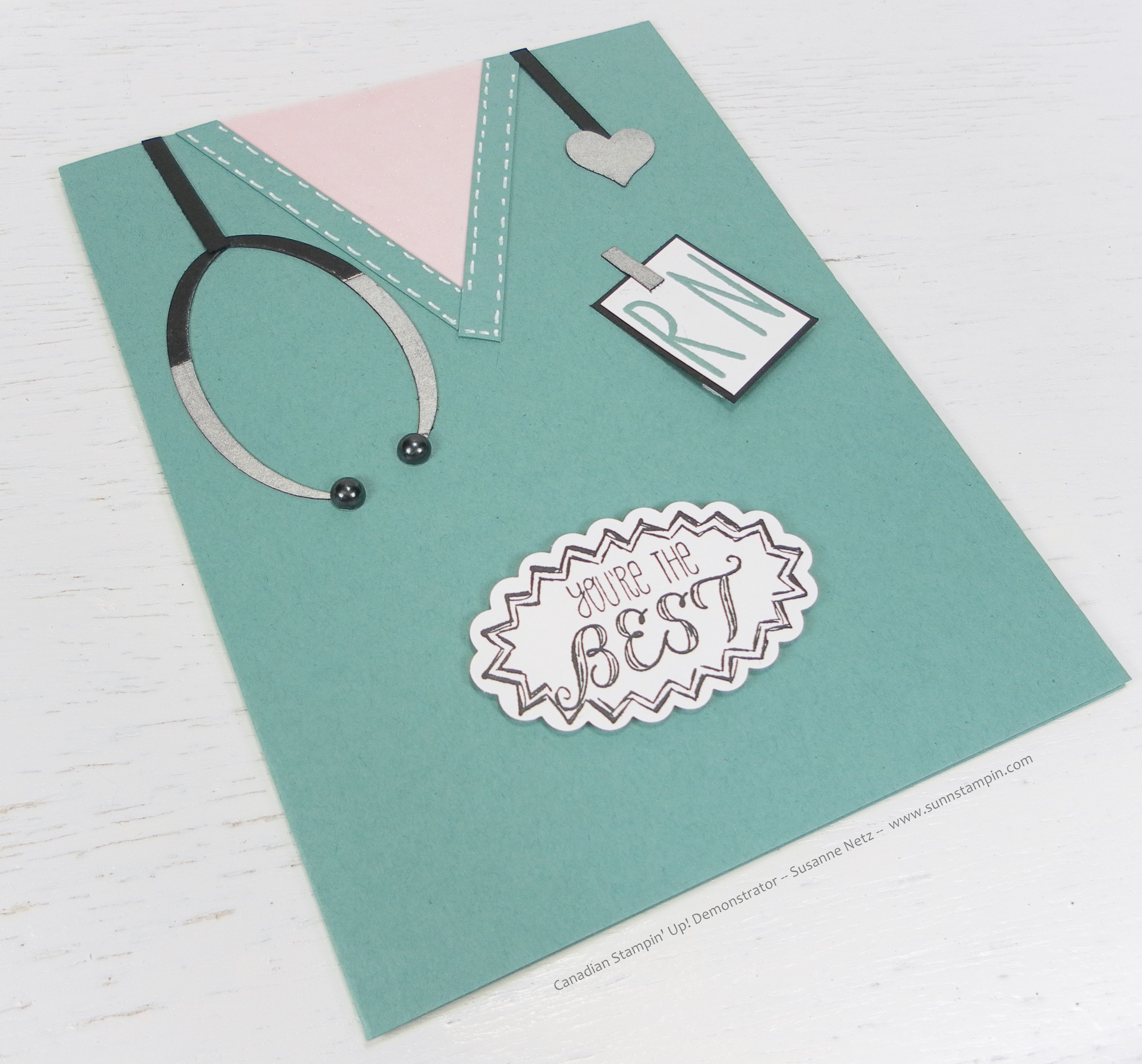 "Diy Nurse Hat: ""You're The Best Nurse"" Card. Stampin' Up! Products Used"
