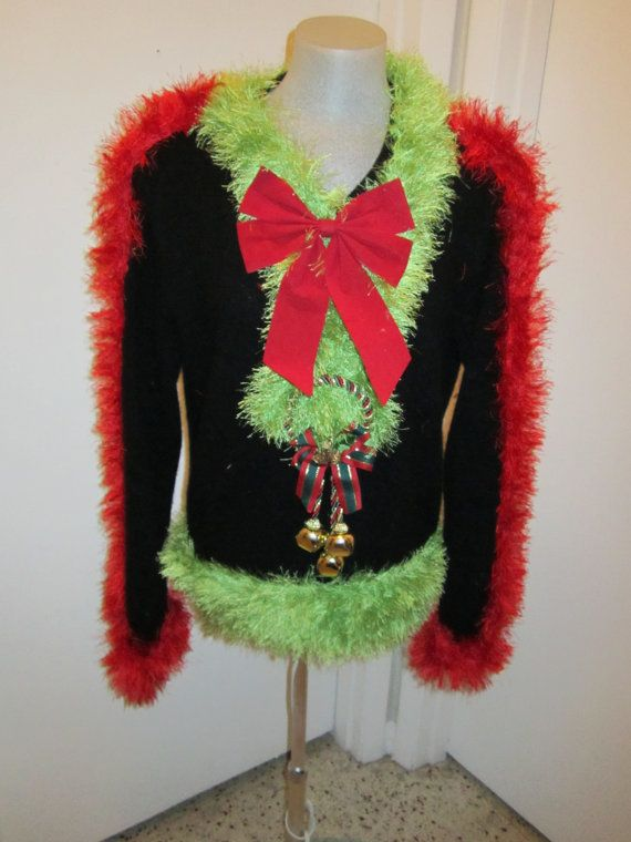 medium grinch ugly christmas sweater foo foo by motherfrakers 5000 - Grinch Ugly Christmas Sweater
