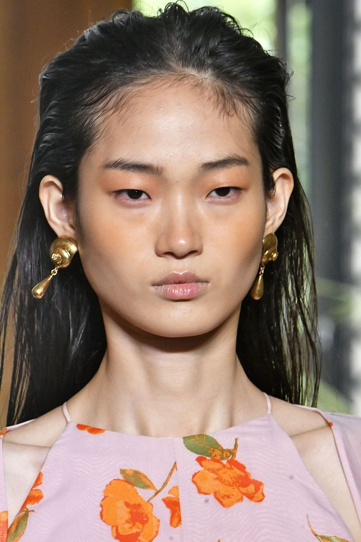 Tracing Fashion Weeks High-Shine Hair and Makeup, From
