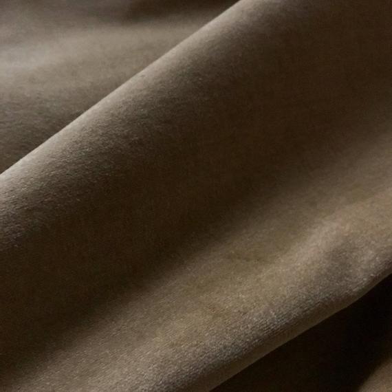 Luxe Dark Taupe Velvet Luxury Upholstery Fabric - 44 #velvetupholsteryfabric