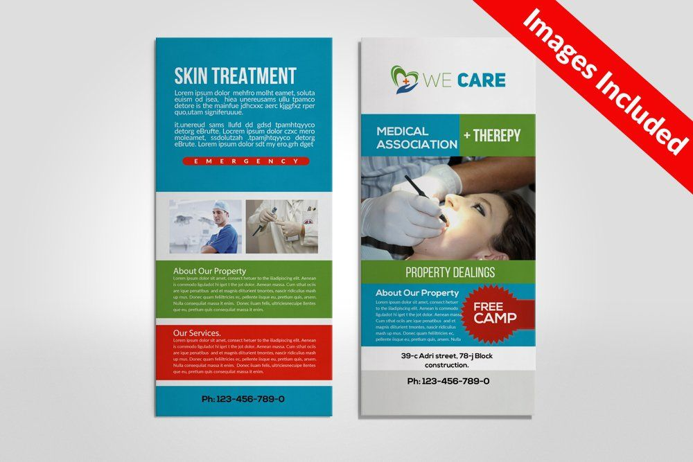 Medical Rack Card Template Free Brochure Template Indesign Brochure Templates Rack Card Templates