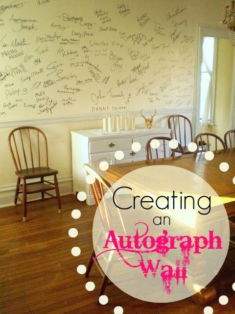 Frugal Wall Art « Nancherrow. Creating an autograph wall. I love ...
