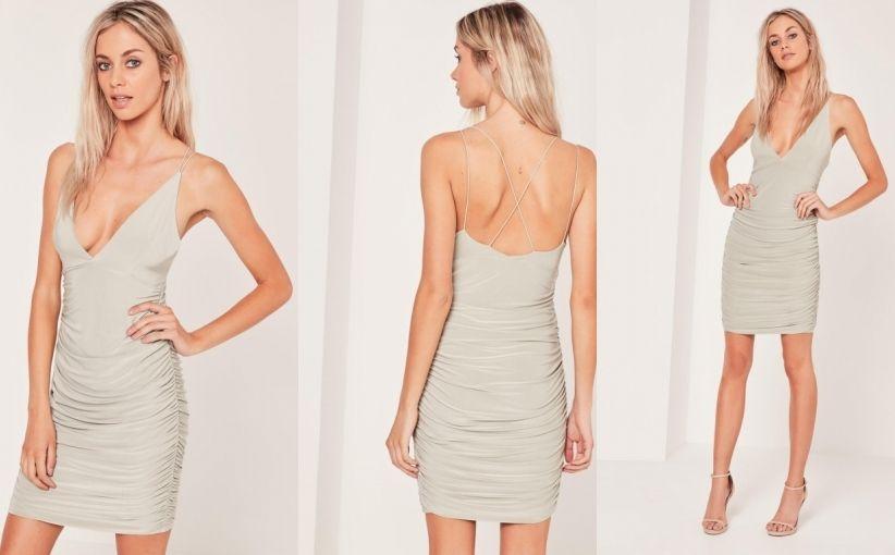 00953so Missguided Sukienka Marszczona Szara 40 7162137412 Oficjalne Archiwum Allegro Dresses Fashion Clothes