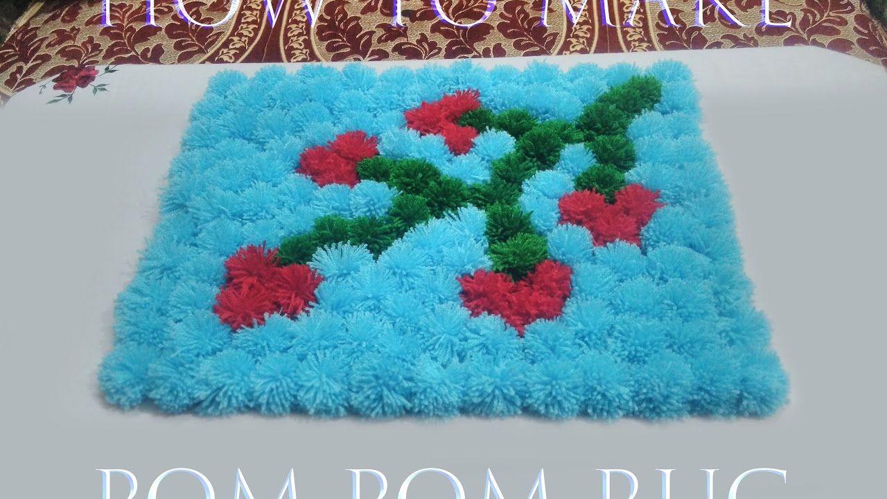 How To Make A Pom Pom Rug Pom Pom Mat By Arti Singh Diy And
