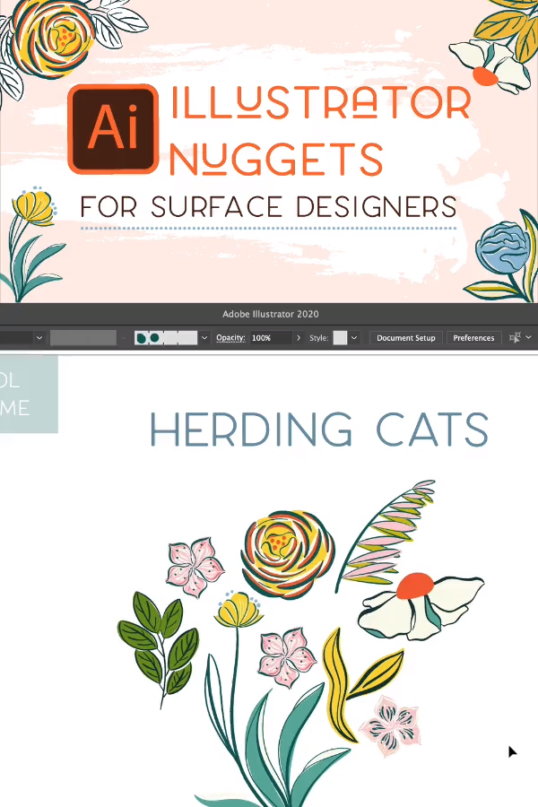 Illustrator Nuggets For Surface Designers -   14 growing plants Illustration ideas