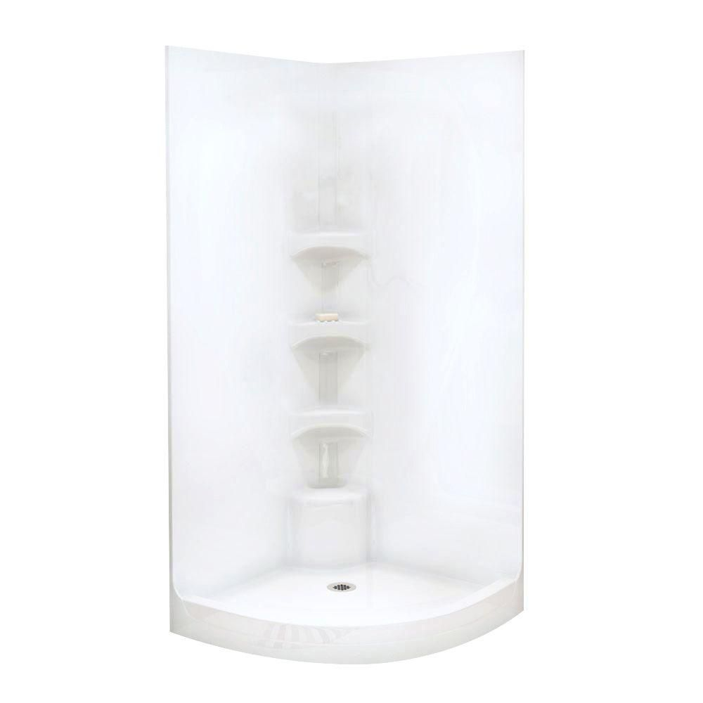one piece corner shower. MAAX Boreal I 37 In  X 78 One Piece Corner Shower Stall White 102648 000 001 The Home Depot