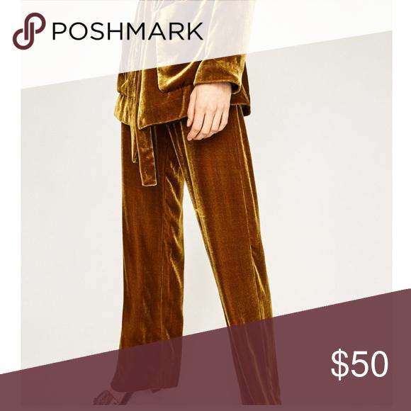98133b3c Zara mustard yellow trousers velvet I bought these beautiful ...