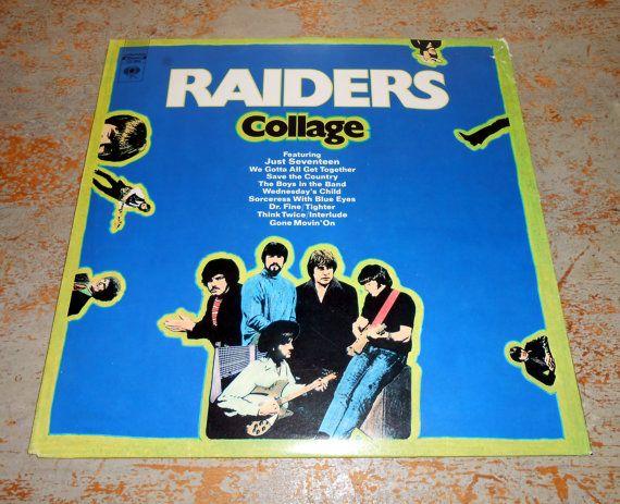 Vintage Vinyl Album Raiders Collage Rock 1970's by TheBackShak, $10.00