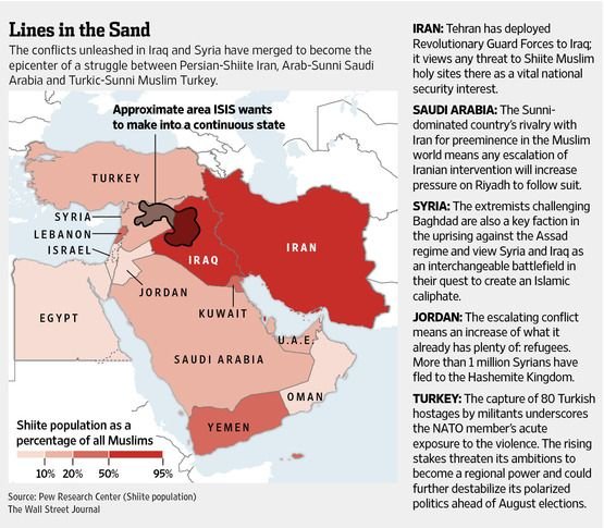 Islamist Militants Aim to Redraw Map of the Middle East Middle