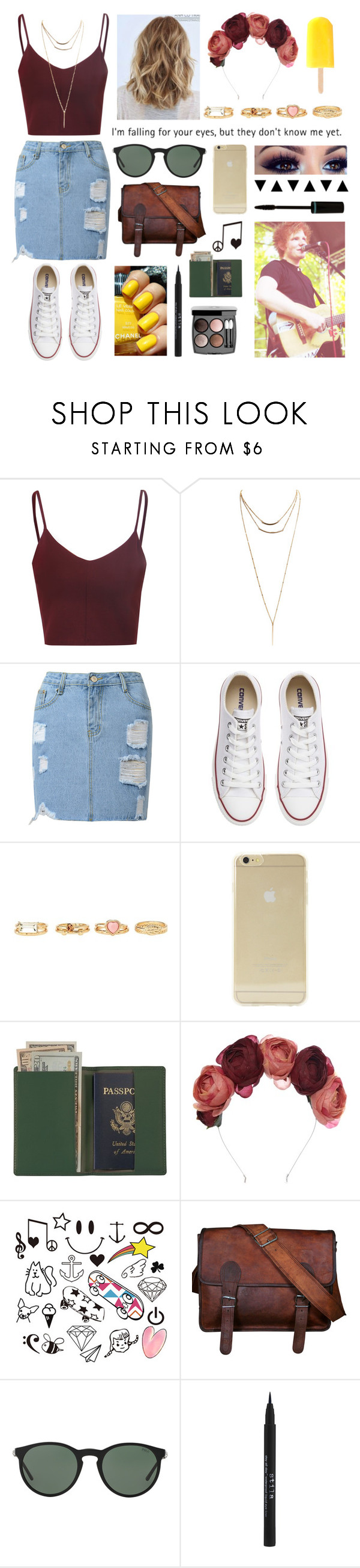 """""""I'm falling for your eyes."""" by kenz0104 ❤ liked on Polyvore featuring Glamorous, Wet Seal, Converse, Charlotte Russe, Sonix, Été Swim, Chanel, Royce Leather, Crown and Glory and Polo Ralph Lauren"""