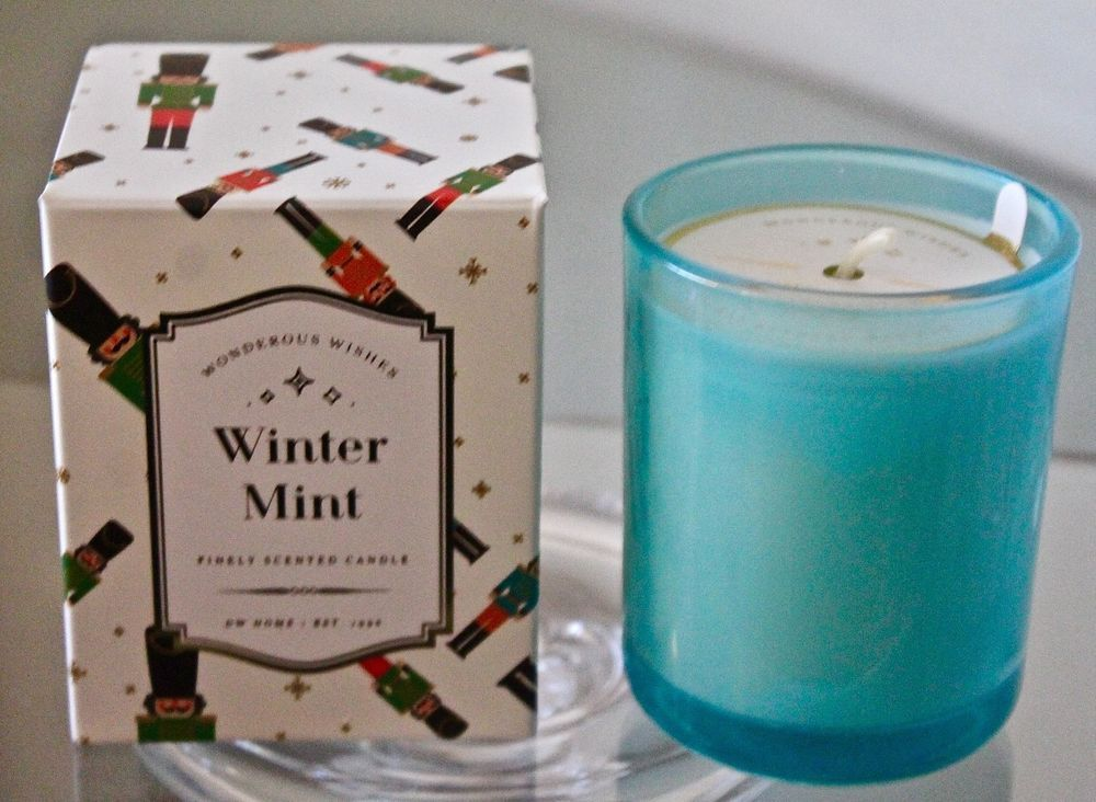 Dw Home Candle Winter Mint 1 Wick 3 8 Oz Mini Finely Scented