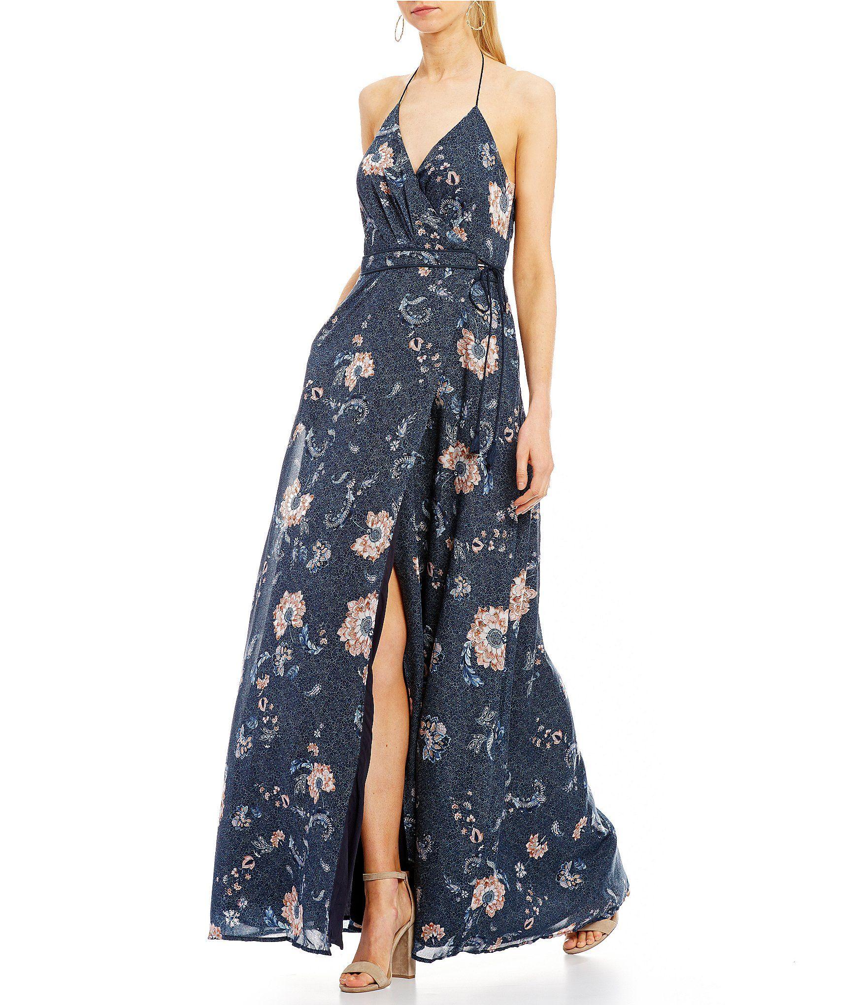ca58428c9b0 The Jetset Diaries Iman Printed Faux Wrap Maxi Dress  Dillards ...