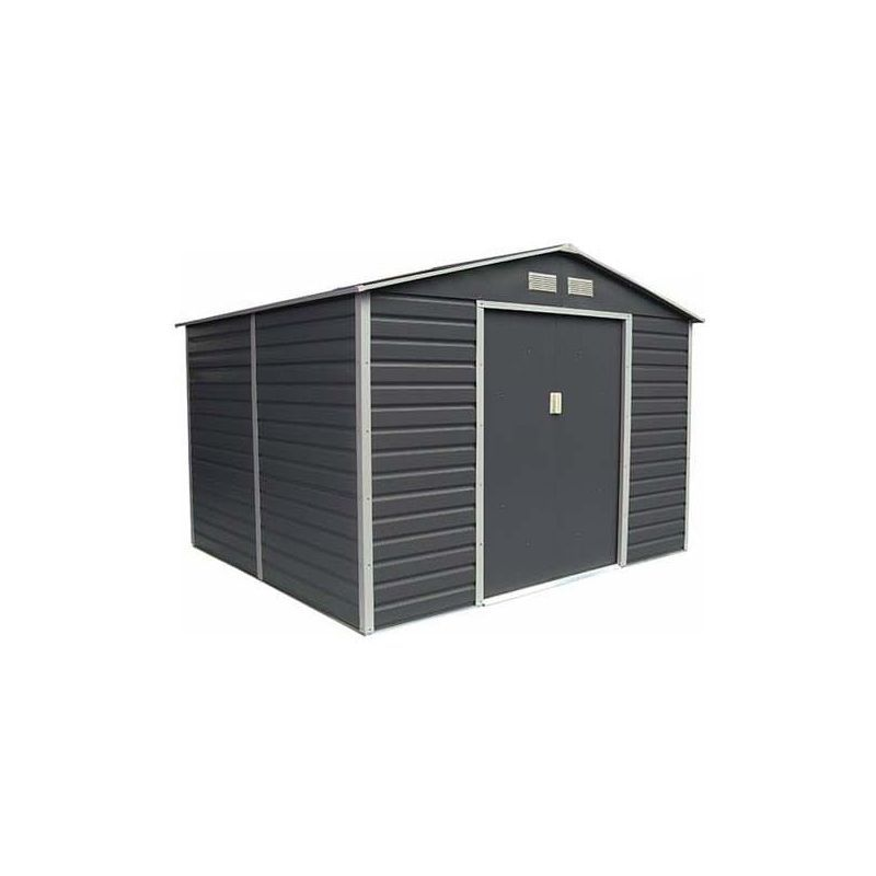 Abri De Jardin Metal Coloris Gris Anthracite 6 54 M2 Kit D Ancrage Inclus Trigano Outdoor Structures Shed Outdoor