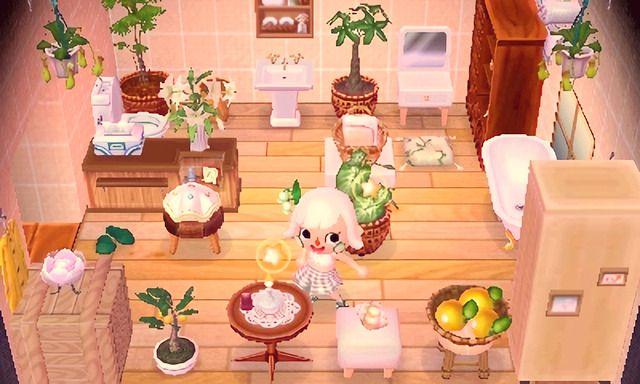 "mayormami ""shiro's bathroom 🌿🍋 "" Animal Crossing"