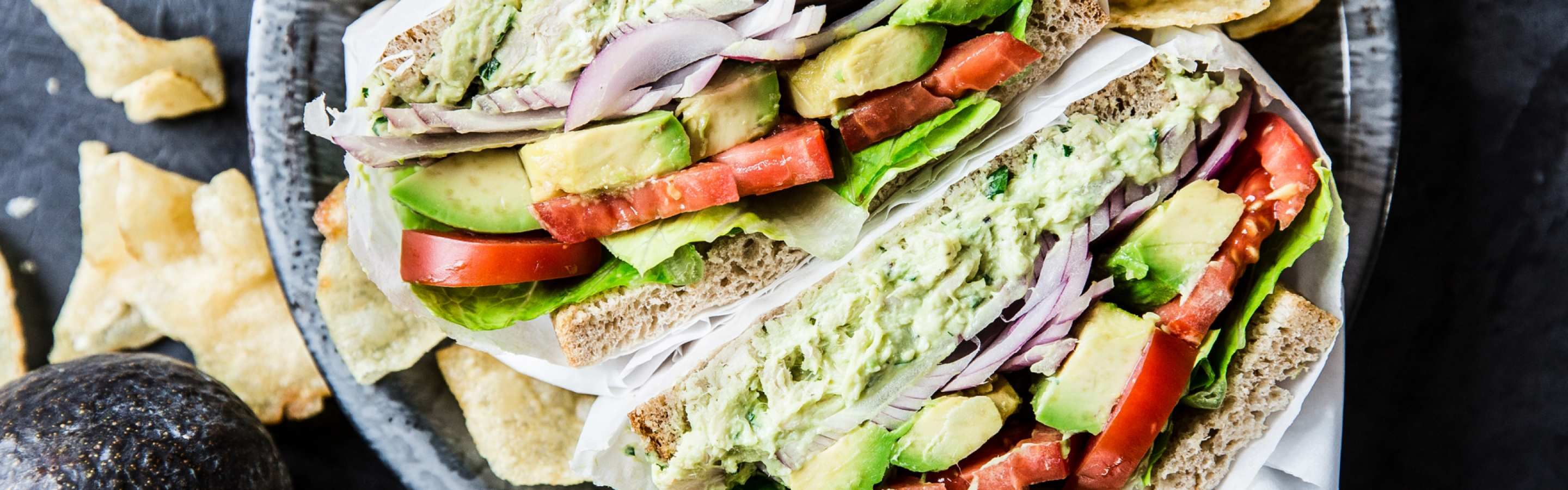 Chicken salad avocado sandwich in 2020 with images
