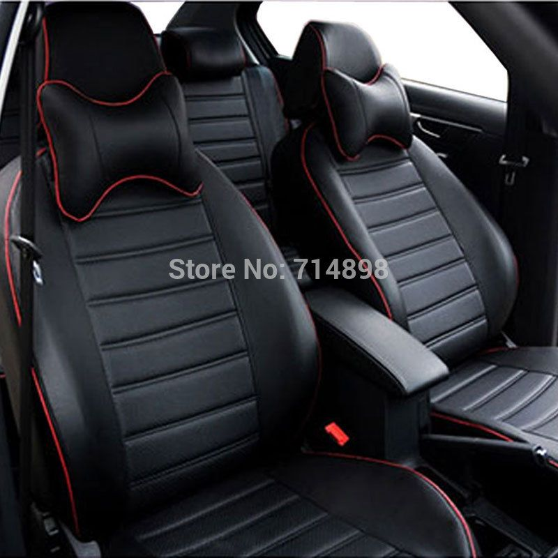 leather car seat cover faux immation pu set custom fitted ...