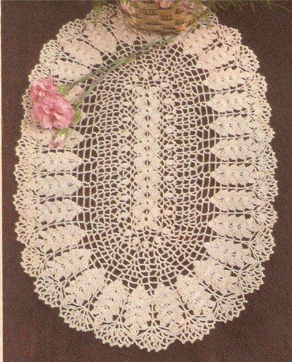 Vintage Doily Pattern | VINTAGE CROCHET WHEAT Doily Pattern by ...