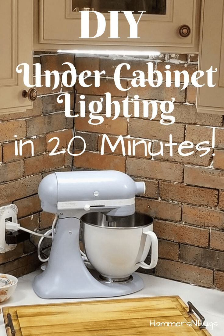 Photo of How to Add Lighting Under Kitchen Cabinets (in 20 Minutes!) – Hammers N Hugs