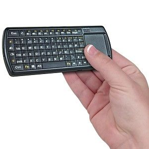 71-key 2.4 GHz Wireless Mini Keyboard with Touchpad w/LED Flashlight (Black) IPKW250FUSK-PB