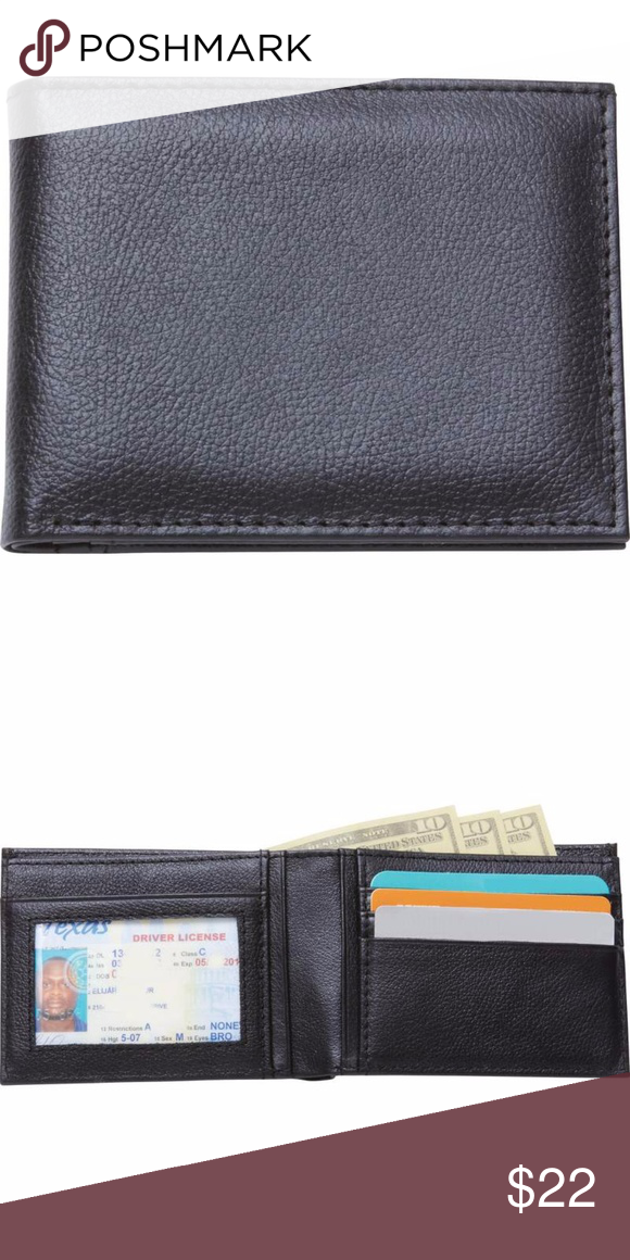 1 Men S Solid Genuine Leather Tri Fold Wallet Boutique Bi Fold Wallet Genuine Leather Leather Bifold Wallet
