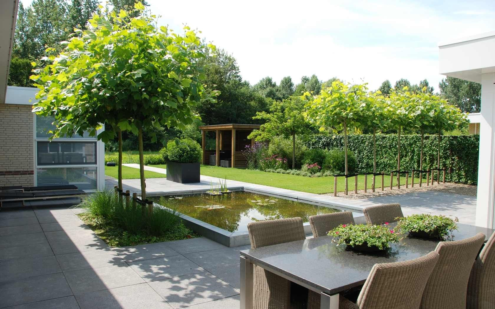 Van veen tuinontwerpen hoorn strakke lounge tuin lifs for Moderne kleine tuin