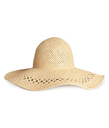87b5cc8750ec0 H M Straw Hat on ShopStyle. Wide-brimmed ...