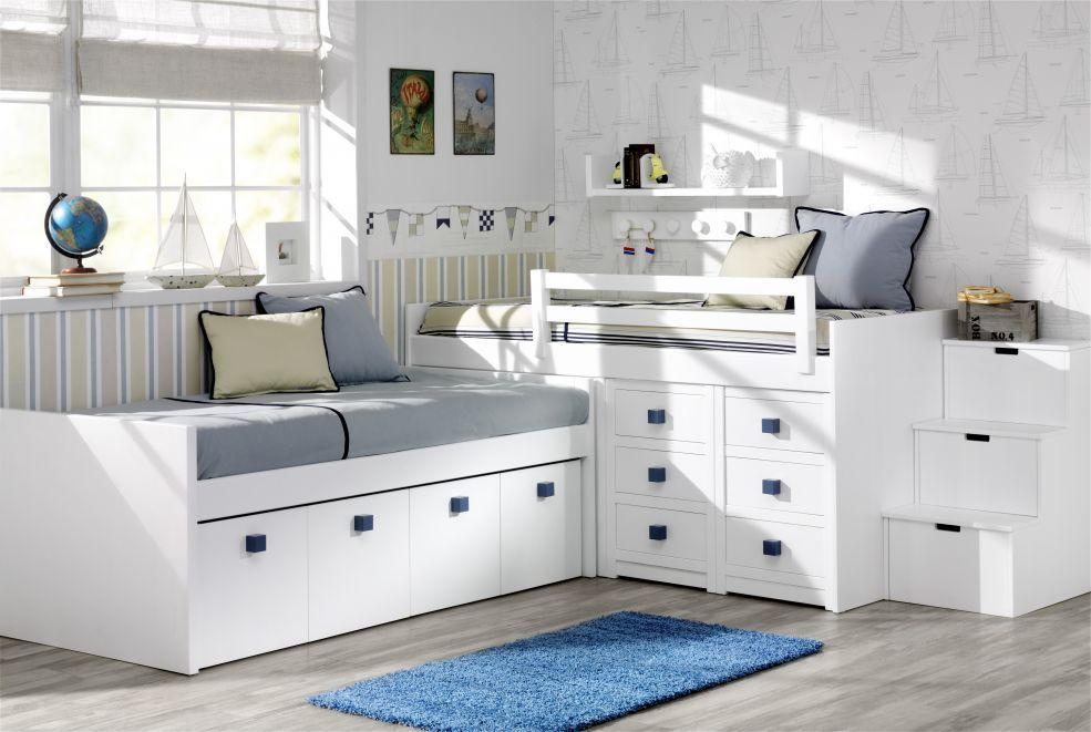 Lacado infantil y juvenil programa newport mobiliario - Dormitorios infantiles dobles ...