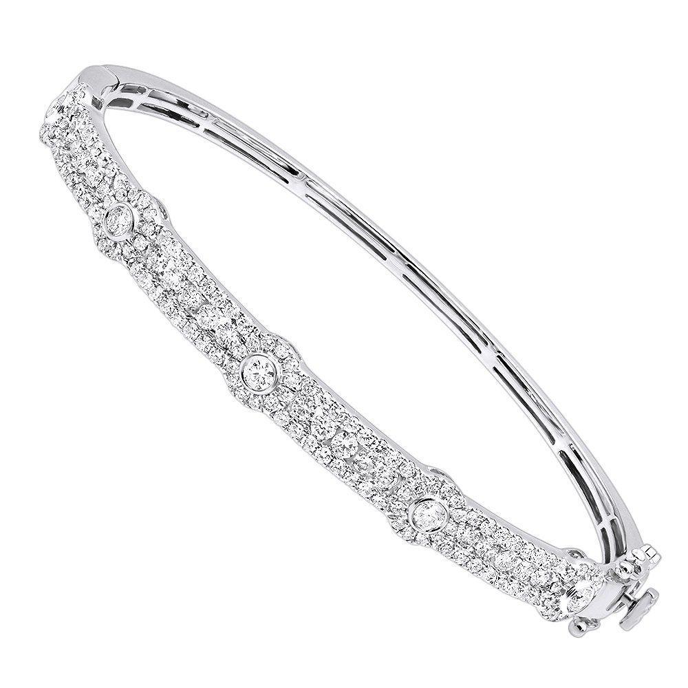 Luxurman unique stackable diamond bangle bracelet for women in k
