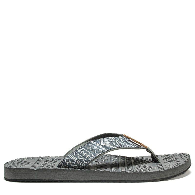 09b8b7cac3bd Muk Luks Men s Scotty Flip Flop Sandals (Grey)