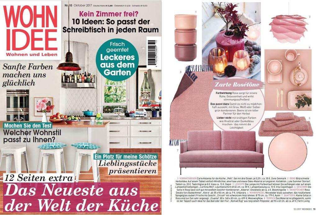 AYTM Circum mirror featured in Wohnidee magazine! Press and - dunkelblaue kche