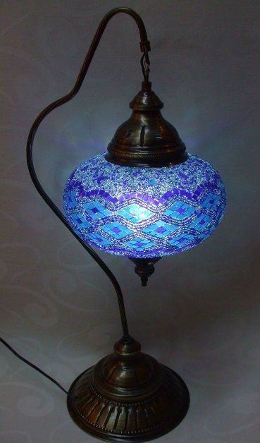 turkish mosaic table lamp which may have to be rewired for u s 110 rh pinterest com
