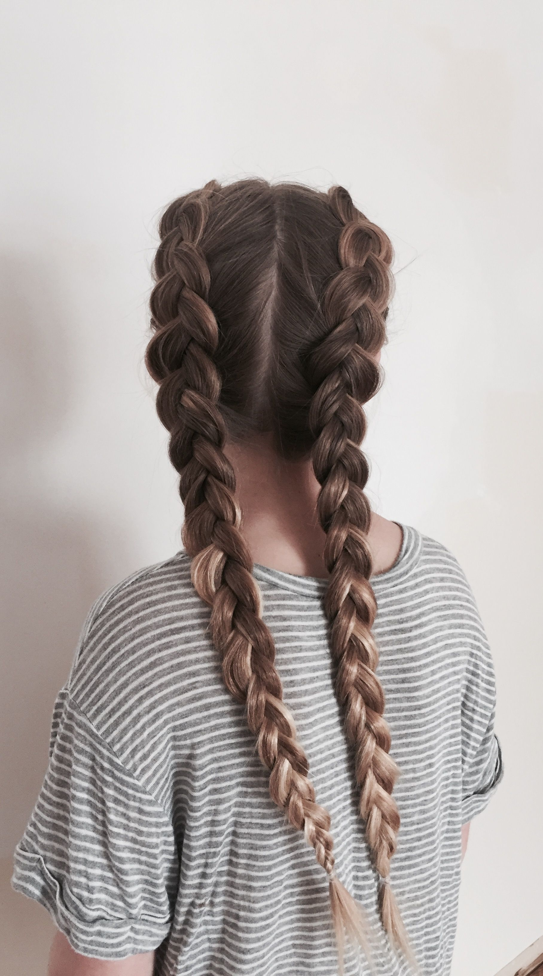 two dutch braids braided hairstyles