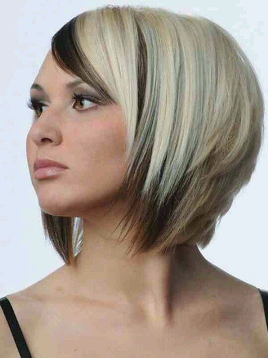 Blonde Bob With Dark Underneath Short Hair Color Cool Hair