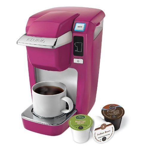 Keurig Mini Plus K10 Single Serve Coffee Brewing System Hot Pink Mauve Keurig Coffee Makers Keurig Mini Coffee Maker