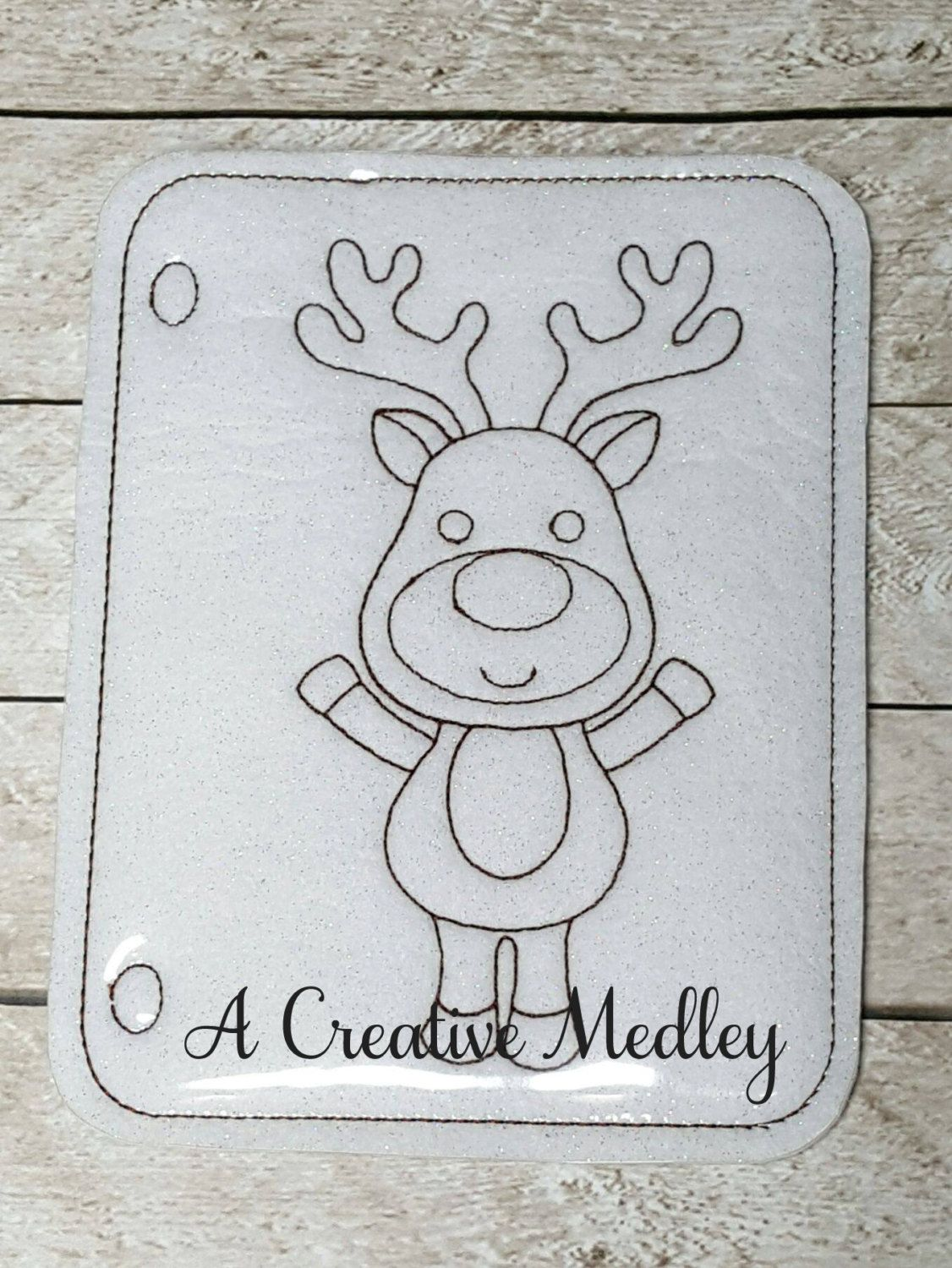 Coloring Page Reindeer – A Creative Medley