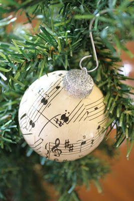 Sheet Music Ball Ornaments Diy With Modge Podge Christmas
