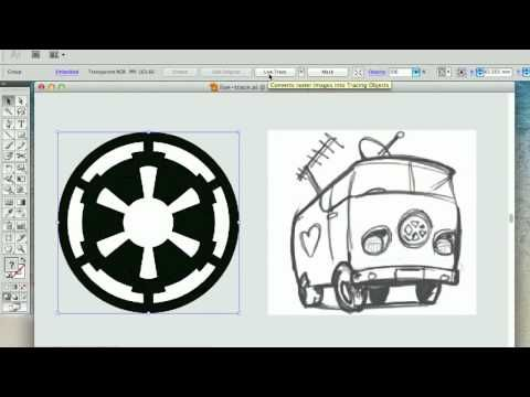 how to live trace in illustrator cs3