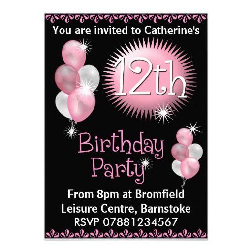 12th Birthday Party Invitation Zazzle Com 13th Birthday