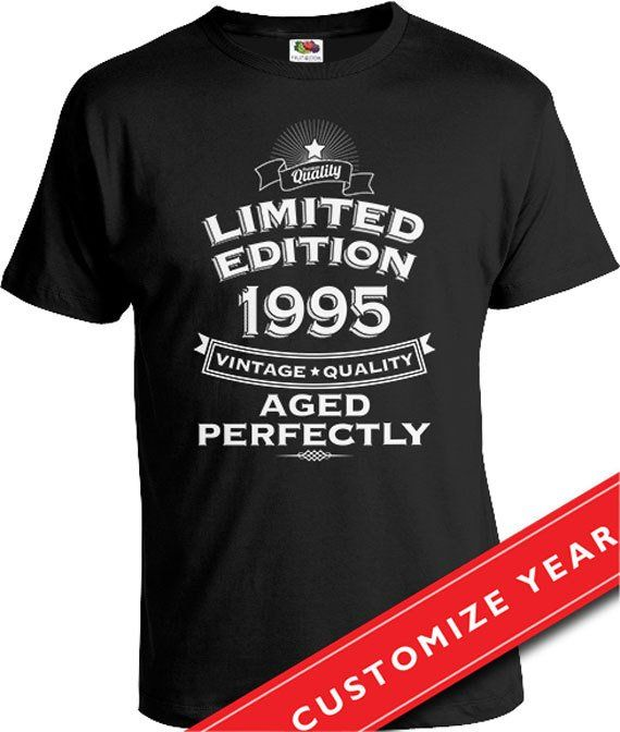 21st Birthday Gift Ideas For Him T Shirt Present Born In 1995 Gifts