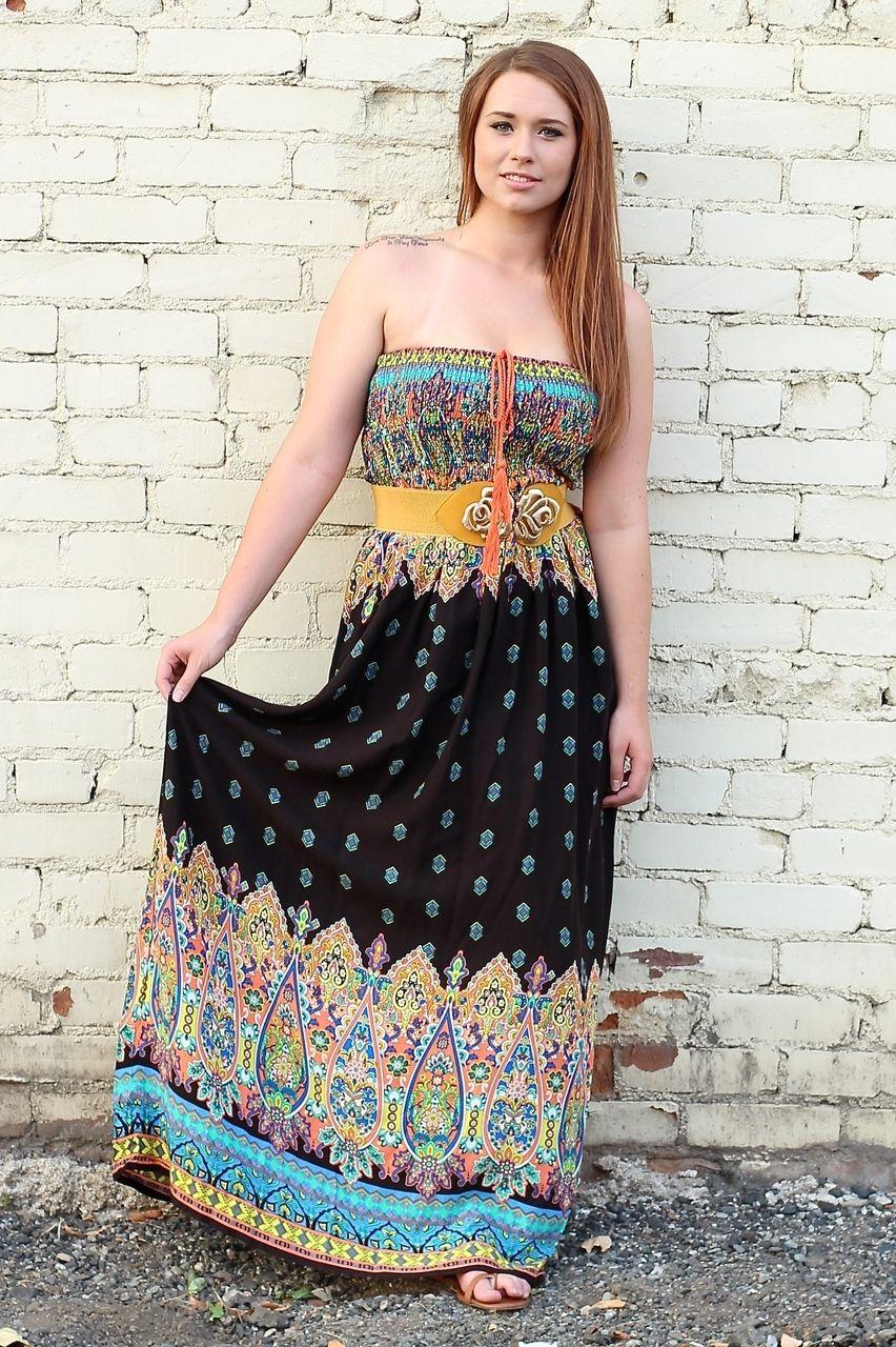 Days Of Woodstock Smocked Strapless Maxi Dress Strapless Maxi Dress Maxi Dress Clothes [ 1280 x 852 Pixel ]